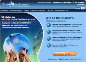GlobalTestMarket bietet die Möglichkeit mit Umfragen Geld zu verdienen