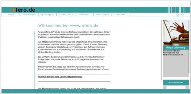 refero ist einen seriösen Anbieter für bezahlte online Umfragen